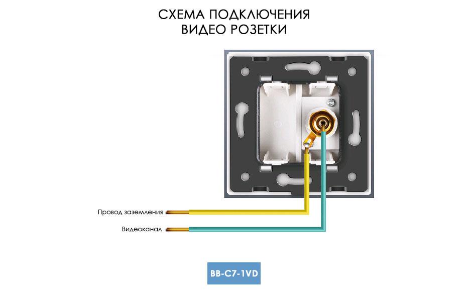 Схема подключения видео розетки