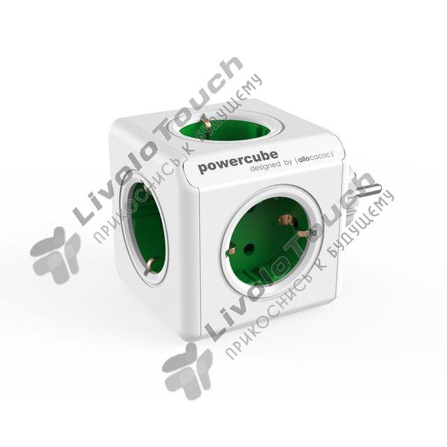 Сетевой фильтр PowerCube Original Allocacoc 5 розеток Зеленый 1100GN/D
