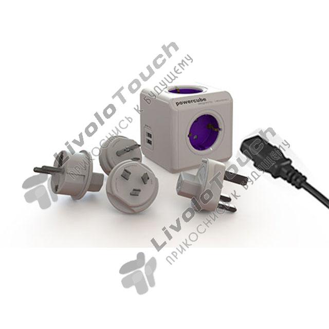 Сетевой фильтр удлинитель PowerCube ReWirable Allocacoc 4 розетки 2 US